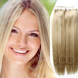 """100% REMY Tape In Hair Extensions 20"""" Ash Blonde"""